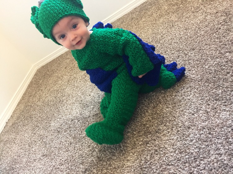Dragon costume Baby Dragon Halloween costume for babies and toddlers Amigurumi style costume Dragoncon Comicon costume party Babies first halloween